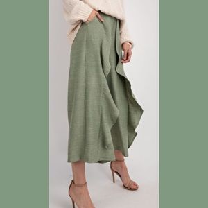Wife of Eric Pants & Jumpsuits - Washed Sage Wide Leg Pants NWT